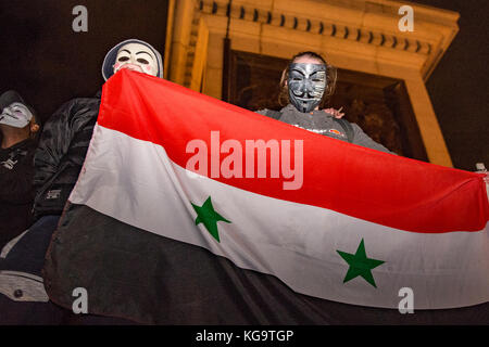 London, United Kingdom. 05th Nov, 2017. Million Mask March 2017 takes place in central London. Credit: Peter Manning/Alamy - Stock Photo