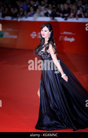ROME, ITALY - OCTOBER 28: Isabelle Adriani walk a red carpet for 'Stronger' during the 12th Rome Film Fest at Auditorium - Stock Photo