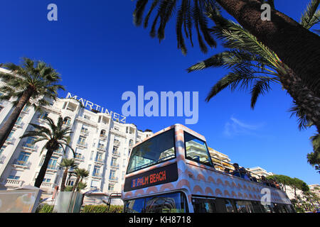 France, French riviera. Cannes. Martinez hotel. - Stock Photo