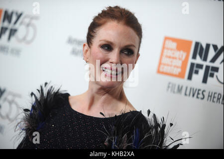 NEW YORK, NY - OCTOBER 07: Julianne Moore  attends the 55th New York Film Festival 'Wonderstruck' premiere at Alice - Stock Photo