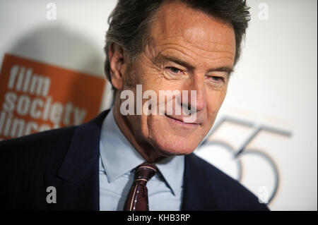 NEW YORK, NY - SEPTEMBER 28: Bryan Cranston attends 55th New York Film Festival opening night premiere of 'Last - Stock Photo