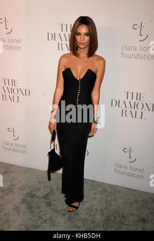 NEW YORK, NY - SEPTEMBER 14: Emily Ratajkowski attends Rihanna's 3rd Annual Diamond Ball at Cipriani Wall Street - Stock Photo