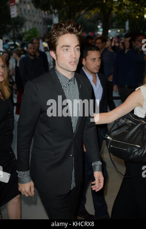 NEW YORK, NY - AUGUST 8: Robert Pattinson attends 'Good Time' New York Premiere at SVA Theater on August 8, 2017 - Stock Photo