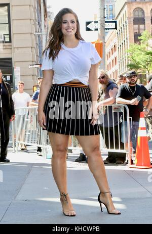 NEW YORK, NY - JULY 26: Model Ashley Graham made an appearance at AOL Build on July 26, 2017 in New York City  People: - Stock Photo