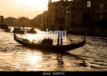 ITALY, VENETO, VENICE, GRAND CANAL - Stock Photo
