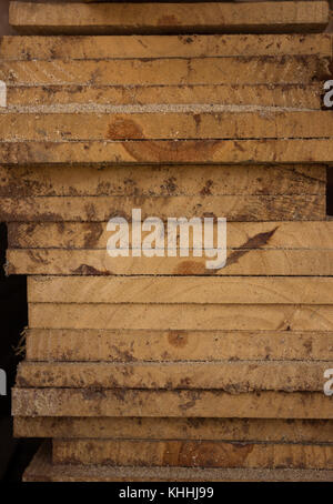 Close up stacked wood. - Stock Photo