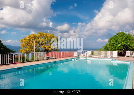 Jamaica beach in Montego Bay - Stock Photo