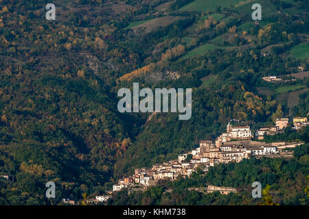 Farindola, Gran Sasso national Park, Abruzzo, Italy - Stock Photo