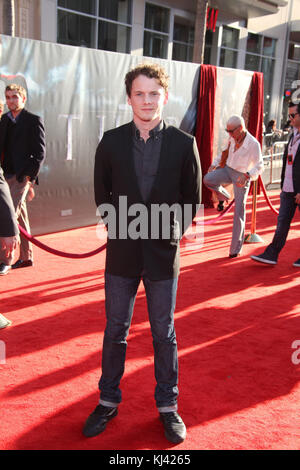 LOS ANGELES, CA - MAY 02:  Anton Yelchin attends the Premiere of Paramount Pictures' and Marvel's 'Thor' at the - Stock Photo