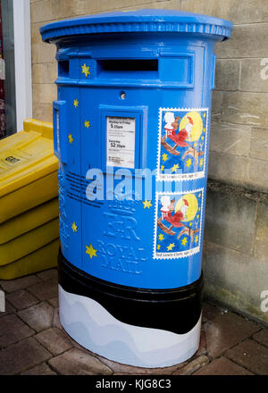 Postbox Painted Blue