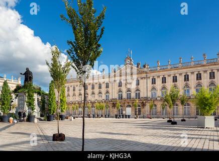 Hotel de Ville (Town Hall), Place Stanislas, Nancy, Lorraine, France - Stock Photo