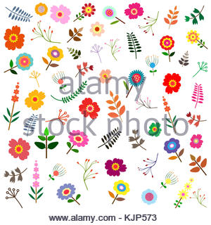 seamless pattern with wterolor bouquet of pink fowers. It can be used for wrapping paper, wallpaper, card, poster. - Stock Photo