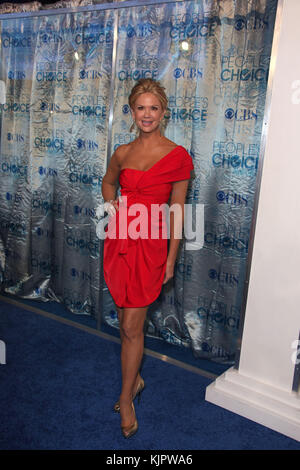 LOS ANGELES, CA - JANUARY 05: Nancy O'Dell arrives at the 2011 People's Choice Awards at Nokia Theatre L.A. Live - Stock Photo