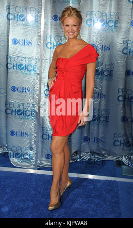 LOS ANGELES, CA - JANUARY 05:Nancy O'Dell arrives at the 2011 People's Choice Awards at Nokia Theatre L.A. Live - Stock Photo