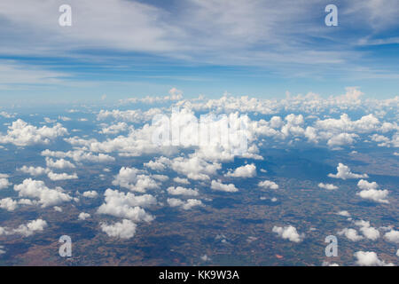 Cloud,View of the clouds seen from airplane window - Stock Photo