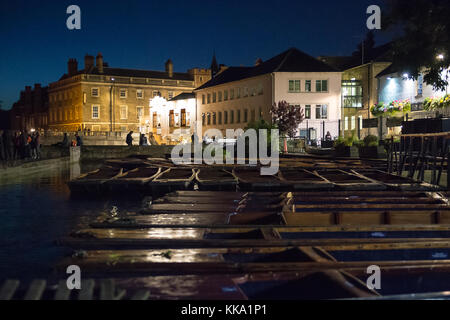 Cambridge Backs At Night And The River Cam Stock Photo Royalty Free Image 9830545 Alamy