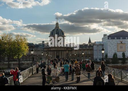 Institut de France in Paris in late October - Stock Photo