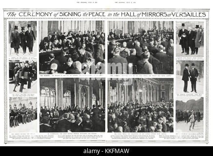 1919 The Graphic Signing of the Treaty of Versailles - Stock Photo