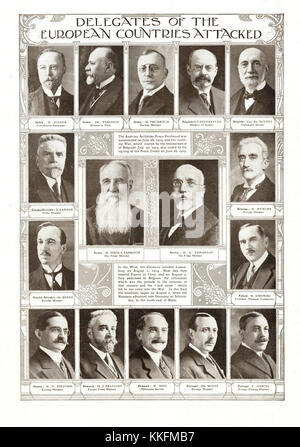 1919 The Graphic Delegates at the Signing of the Treaty of Versailles - Stock Photo