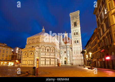 Palazzo Vecchio in the mornng in Florence, Italy - Stock Photo