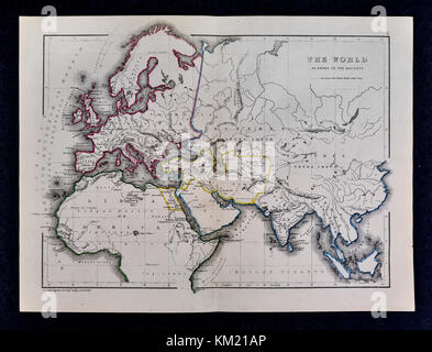 Classical Map of the Ancient World as Known to the Ancients - Stock Photo