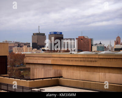 Syracuse, New York, USA. December 2, 2017. View from Brewster, Boland Residence halls on the Syracuse University - Stock Photo