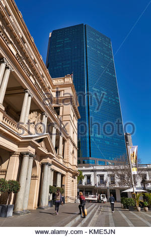 The contrast etween old and new buildings at Circular Quay, Sydney, Australia - Stock Photo