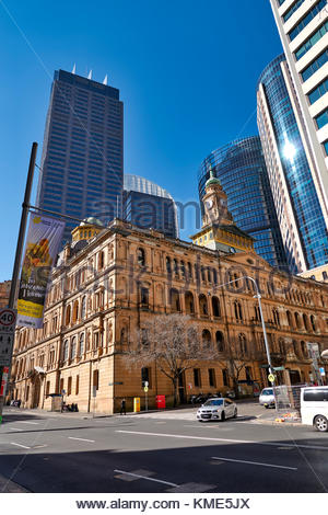 The town hall at the business district of Sydney, Australia - Stock Photo