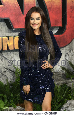London, UK. 7th Dec, 2017. Amber Davies attends the 'Jumanji: Welcome To The Jungle' UK premiere in London, United - Stock Photo