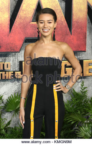 London, UK. 7th Dec, 2017. Montana Brown attends the 'Jumanji: Welcome To The Jungle' UK premiere in London, United - Stock Photo