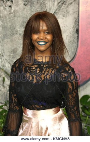 London, UK. 7th Dec, 2017. Oti Mabuse attends the 'Jumanji: Welcome To The Jungle' UK premiere in London, United - Stock Photo