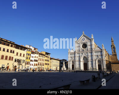 Famous church Santa Croce in Florence, Tuscany, Italy. - Stock Photo