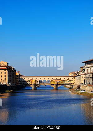 Ponte Vecchio - beautiful old bridge in Florence, Tuscany, Italy. - Stock Photo