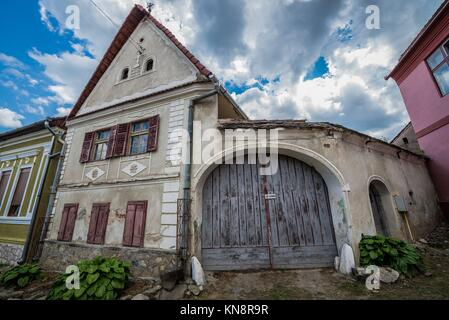 Typical transylvanian village structure here in calnic calnic stock photo royalty free image - Saxon style houses in transylvania ...