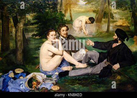 Claude Monet (1840 - 1926), Le Pavé de Chailly - Route du Bas-Bréau (c. 1865, huile sur toile)Orsay Museum, Paris, - Stock Photo