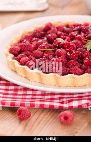 Raspberry tart. - Stock Photo