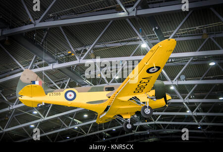 Airspeed Oxford AS.10 aircraft on display in the AirSpace hangar at Imperial War Museum, Duxford, UK - Stock Photo