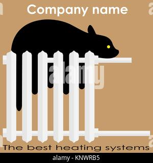 Radiator icon heater and heating heat symbol flat for The best heating system