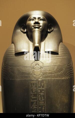 Egyptian museum, Turin, Italy, Europe. - Stock Photo
