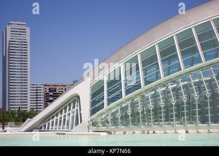 L´Hemisfèric, City of Arts and Sciences, Valencia, Spain - Stock Photo
