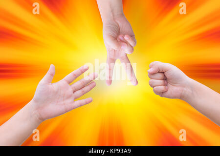 how to play rock paper scissors with lots of people