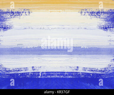 Abstract art painting on wood - Stock Photo