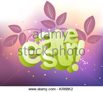 Easter Illustration Background, Easter card template. - Stock Photo