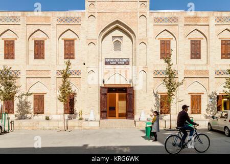 carpet shop bukhara uzbekistan stock photo royalty free. Black Bedroom Furniture Sets. Home Design Ideas