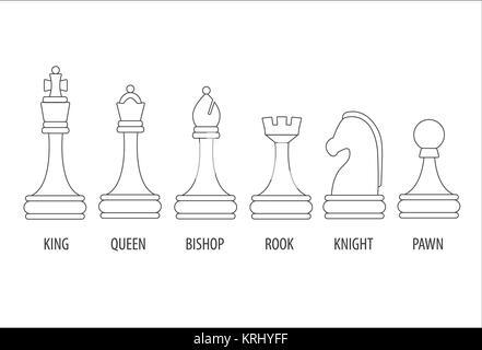 set of chess pieces - Stock Photo