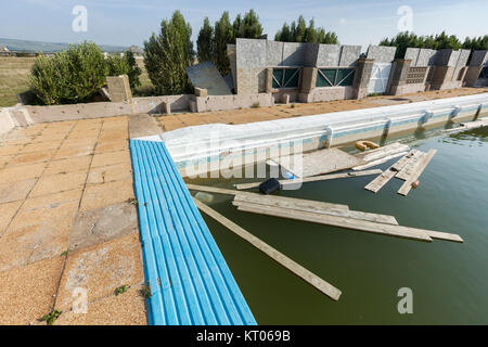 Swimming Pool In The Abandoned Town Of Pripyat Chernobyl Exclusion Stock Photo Royalty Free