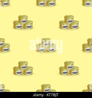 Metal Cans Seamless Pattern - Stock Photo