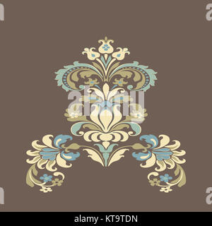 colorful damask floral element design pattern background - Stock Photo