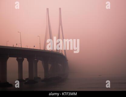 Bandra-Worli Sea Link Bridge - Stock Photo