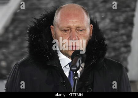 Moscow, Russia. 25th Dec, 2017. Alexei Gromov, first deputy chief of staff of Russia's Presidential Executive Committee, - Stock Photo